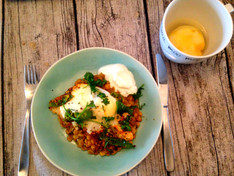 Jamie Oliver's Daal with Fried Egg