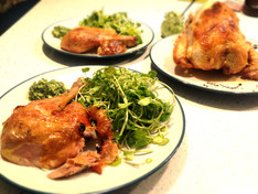 Ghee Roasted Chicken, Rocket & Almond Pesto