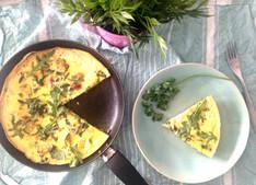 Courgette, Parsley & Chorizo Frittata