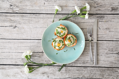 Smoked Salmon & Asparagus Egg Cups