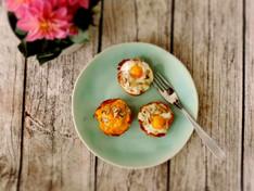 Mushroom Prosciutto Egg Cups