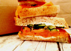 Albion's Smoked Salmon, Cream Cheese & Pickled Cucumber Sandwich