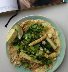 Jamie Oliver's Asian Stir-Fried Veg Crispy Sesame Noodle Omelette