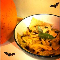 Hallowe'en Special: Pumpkin & Chilli Ravioli with Sage Butter