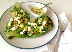 Potato, Walnut & Goat's Cheese Salad with Thyme Aioli