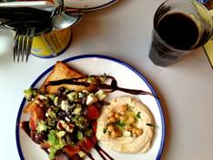 Breakfast at Comptoir Libanais, Broadgate Circle