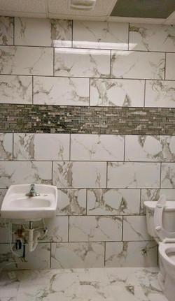 Restroom Backsplash