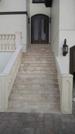 Travertine Stone Steps