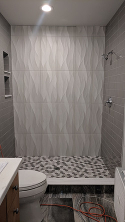 shower floors and walls
