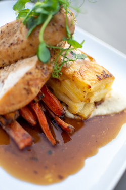 Roast Chicken with Dauphinoise Potatoes