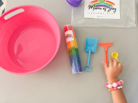 Rainbows and Rice for Teach My Toddler Tuesday