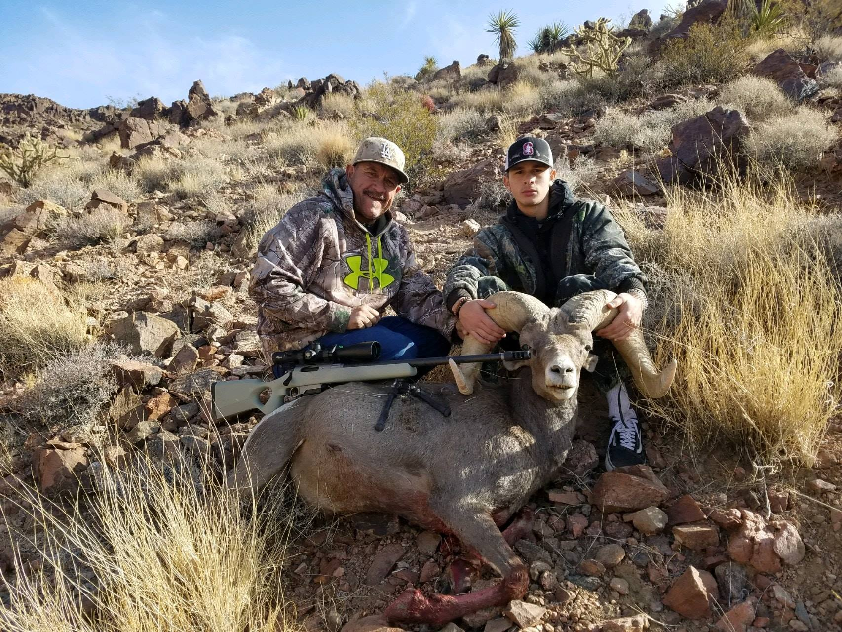 Nevada Ram taken at 550 Yards