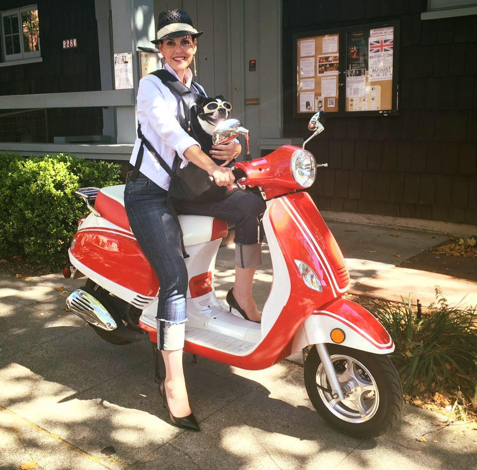 Scooting around town