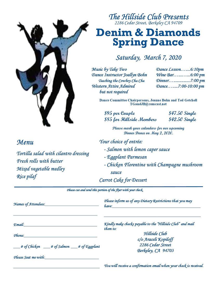 Denim and Diamonds Spring Dance - March