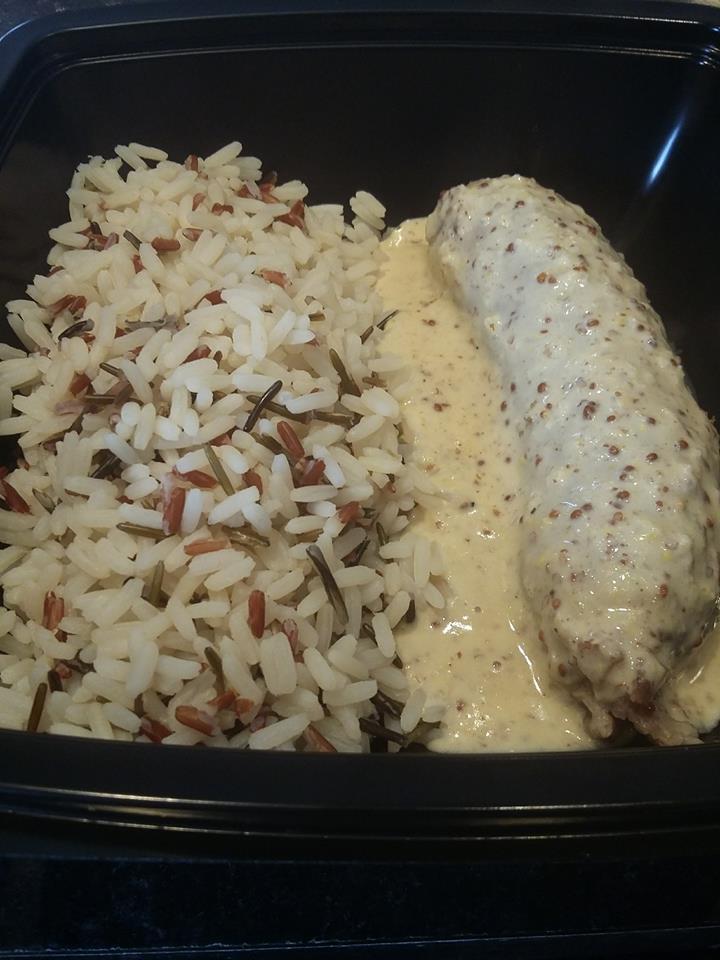 Andouillette sauce moutarde, riz sauvage