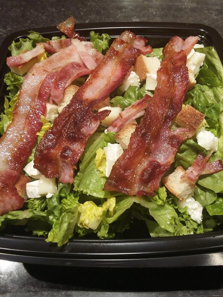 Salade de bacon chèvre