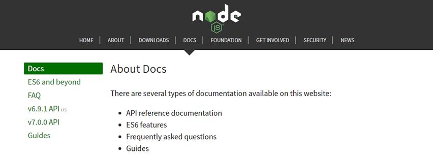 Node.JS Documentation