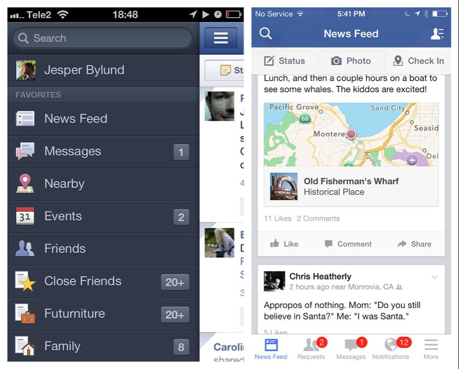 facebook slider navigation