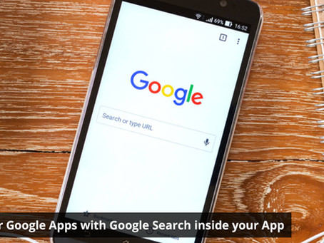 Power your Google Apps with Google Search inside your App