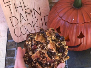 Everything but the kitchen sink flourless cookies