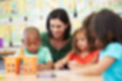 Preschool Teacher and Students