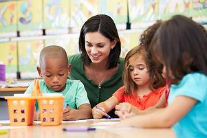 Preschool Teacher and Students