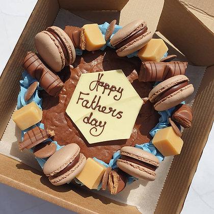 Father's day Chocolate brownie slab