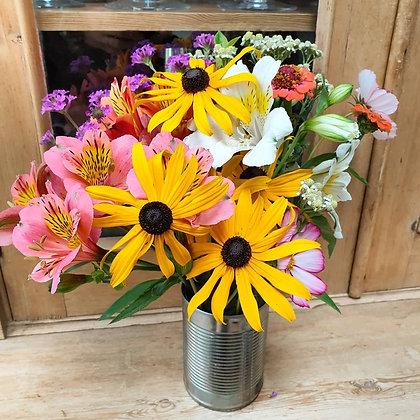Seasonal home grown flowers