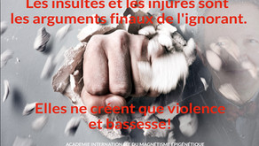 Les injures sont l'argument final de l'ignorant.