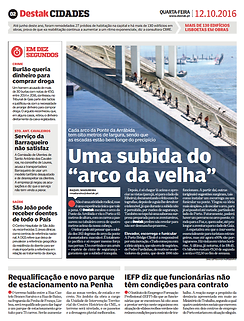 Na imprensa Destak press Porto Bridge Climb