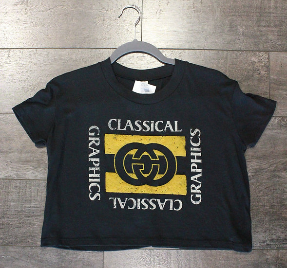 Classical Graphics Crop Top