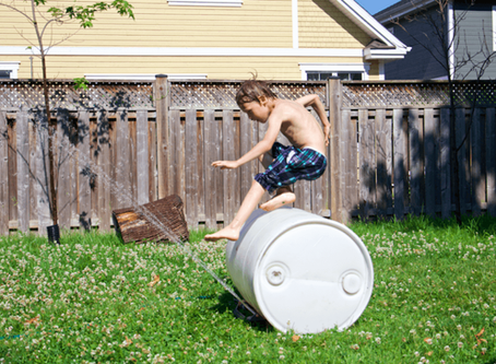 My kids' favourite toy? An old plastic barrel. Seriously.