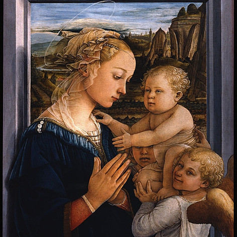 Madonna and Child with Two Angels, Filippo Lippi