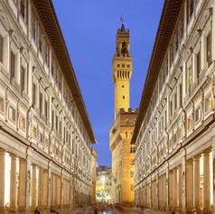 The Uffizi with Palazzo Vecchio in the background