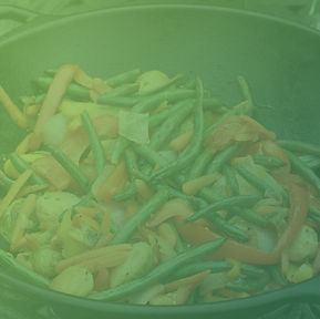 Bowl of stir fried veggies