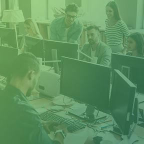 People Working at Desks