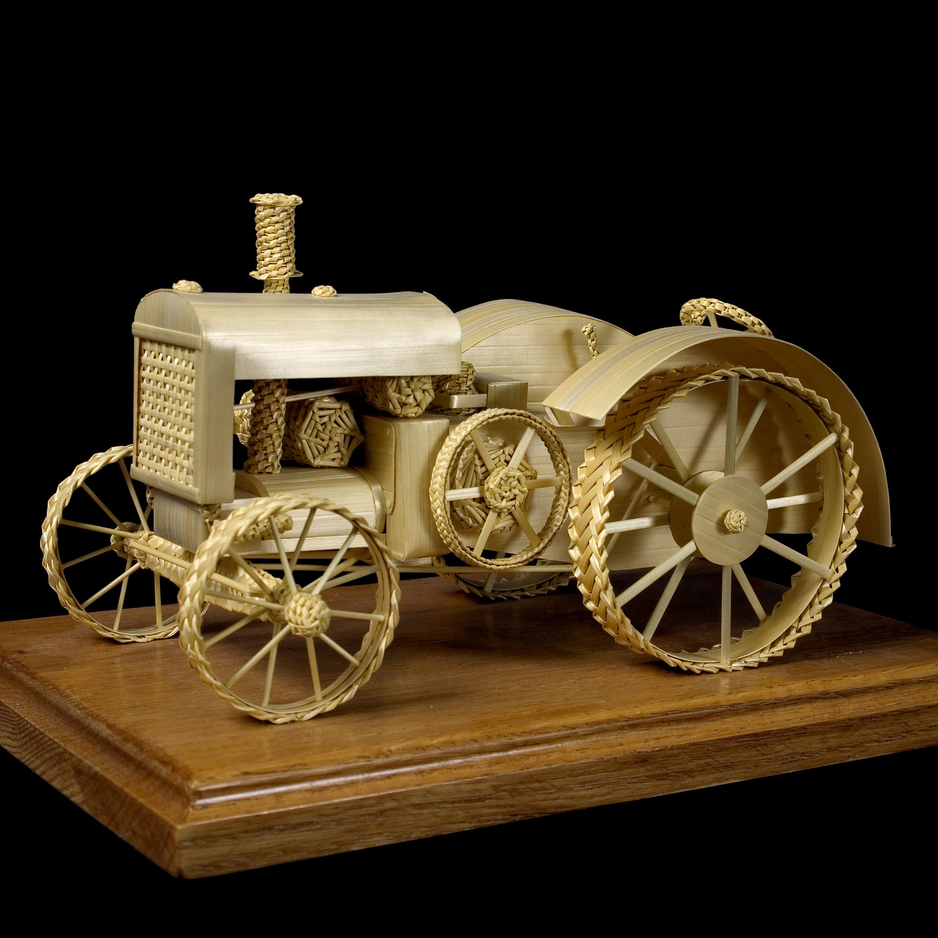 Wheat Tractor Sculpture