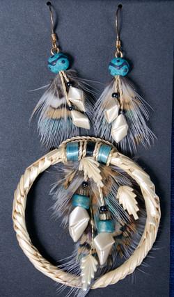 Black Elk Speaks Pin & Earrings