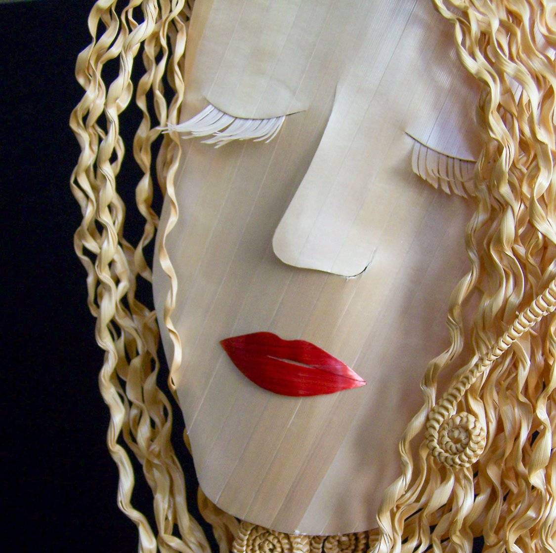 Wheat Marquetry Mask