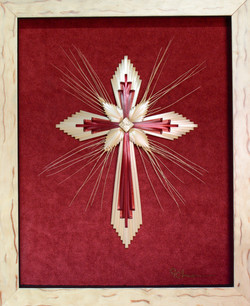 Wheat Woven Cross