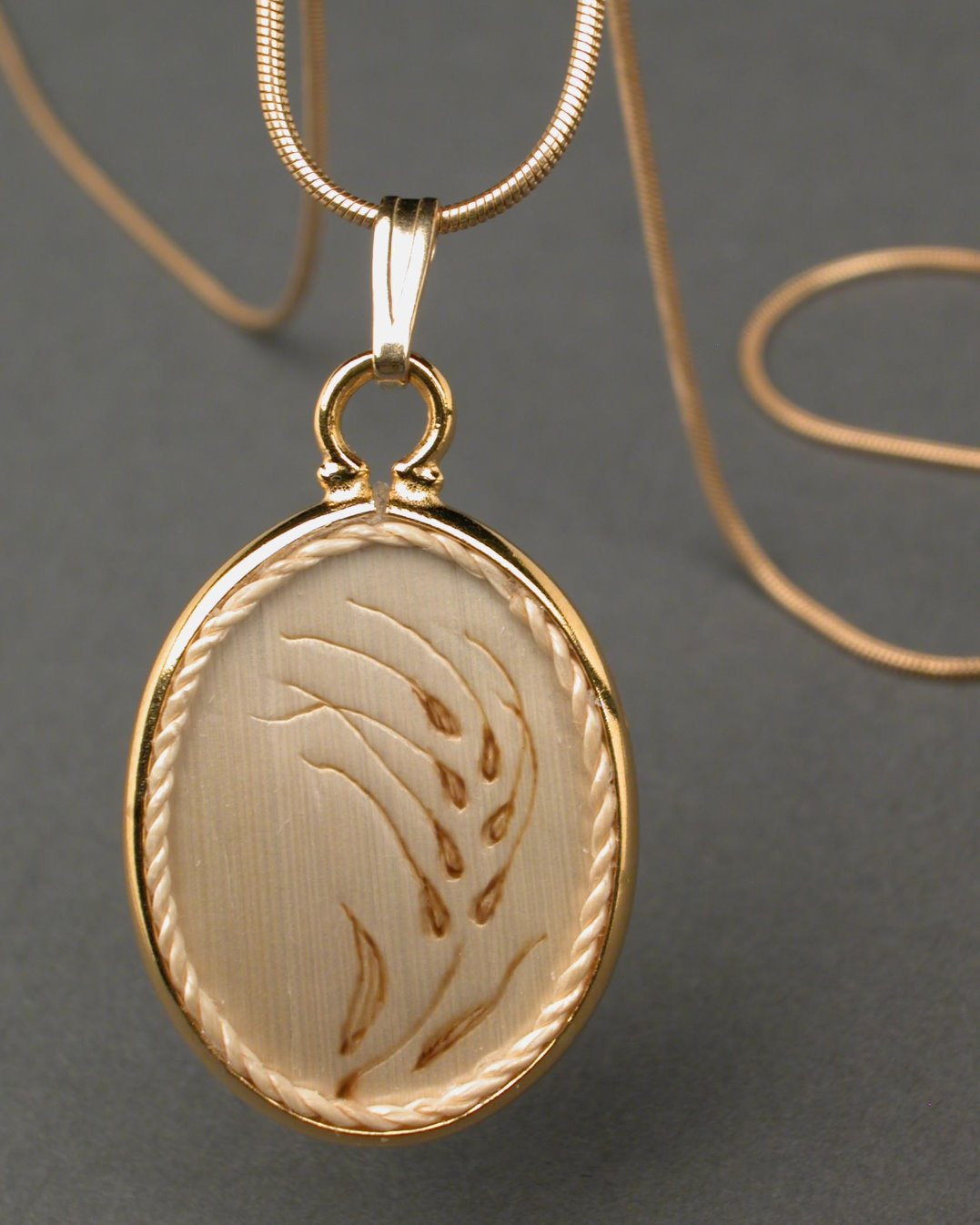 Embossed Wheat Pendant