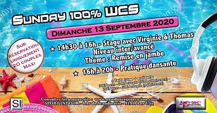 Bandeau FB SUNDAY 100% WCS - Dimanche 13