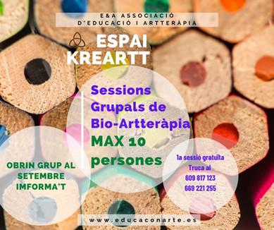 SESSIONS GRUPALS DE BIO-ARTTERÀPIA