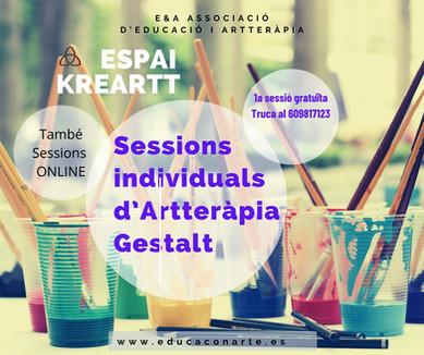 SESSIONS INDIVIDUALS D'ARTTERÀPIA GESTALT