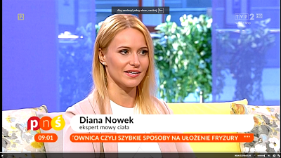 Diana Nowek o budowaniu pewności siebie dzięki mowie ciała w TVP2