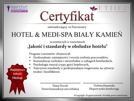 Jakość i standardy w obsłudze hotelu - autorski projekt szkoleń zamkniętych.