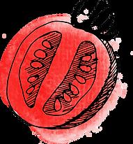水彩画トマト