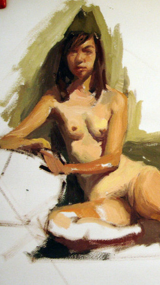 Nude Study from life; oil