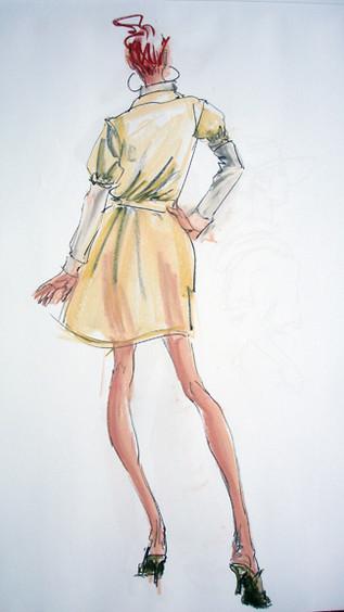 Transparent Materials Garment Sketch and Demo