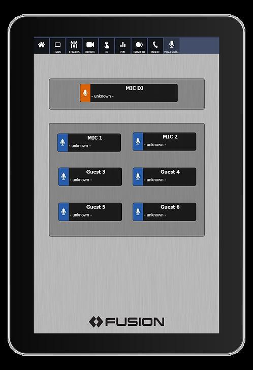 IP-Tablet VOCO 8 Virtual Radio App - Axia IP-Tablet Virtual R